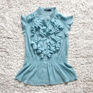 The Limited Ruffled Blouse